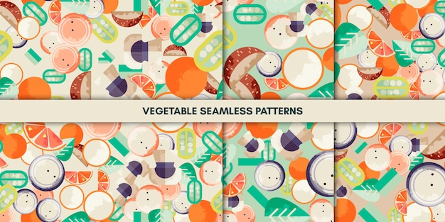 Vegetable seamless patterns