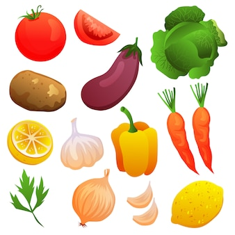 Vegetable set collection element object