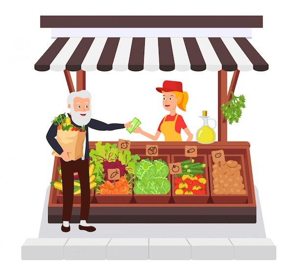 野菜店 Premiumベクター