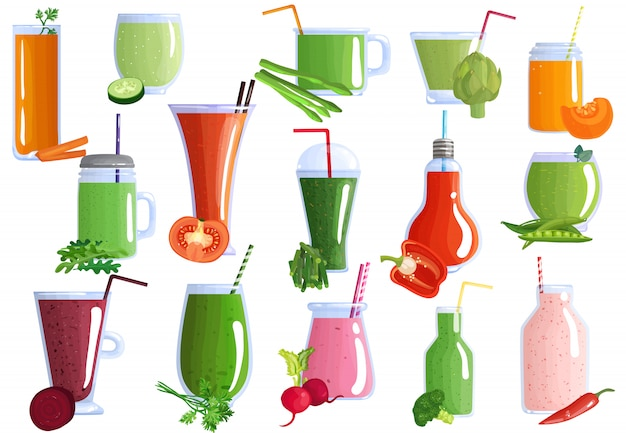 Vegetable smoothies set