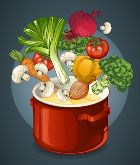 야채 수프 그림