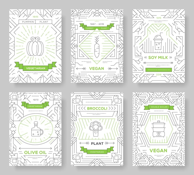 Vegetable template of flyear, magazines, posters, book cover,banners. vegetarian invitation concept.