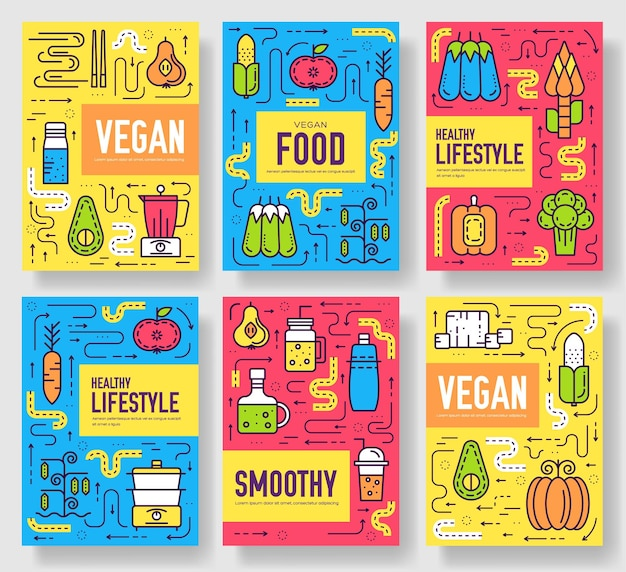 Vegetable template of flyear, magazines, posters, book cover, banners