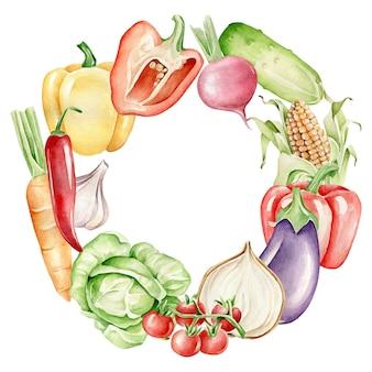 Vegetable wreath