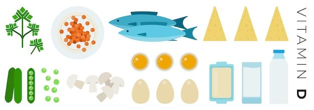 Овощи и продукты животного происхождения, изолированные на белом фоне