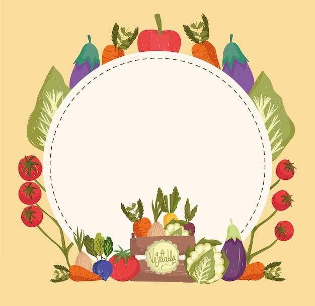 Овощи и баннер