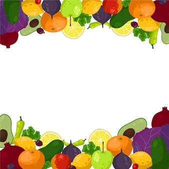 Овощи и фруктовый фон