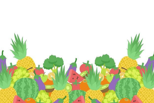Овощи и фрукты фон