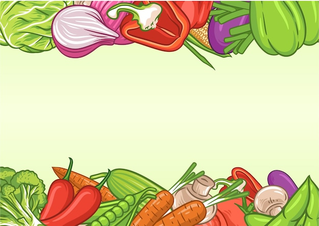 Vegetables background with text space, organic food poster, vegetables background