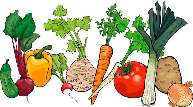 Овощи большой группы мультфильм иллюстрации