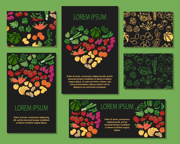 Vegetables cards