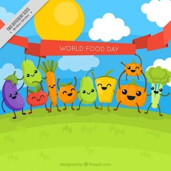 Vegetables celebrating the world food day