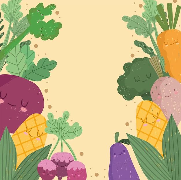 Vegetables cute cartoon
