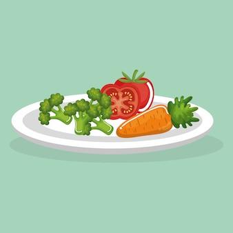 Овощи вкусная еда завтрак