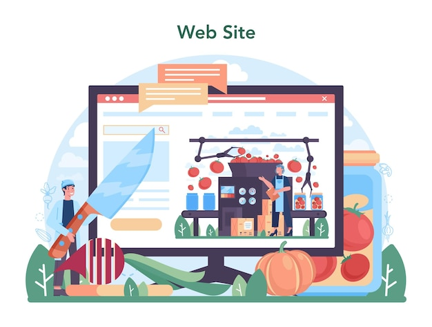 Онлайн-сервис или платформа для овощеводства. деревенские продукты