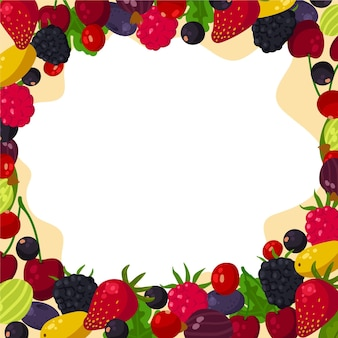 Vegetables and fruit background