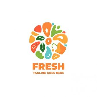 Vegetables and fruit fresh logo
