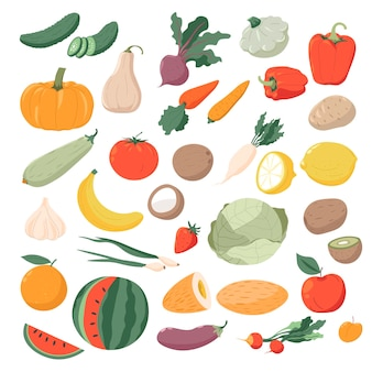 Vegetables and fruit organic and natural products