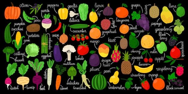 野菜、果物、果実