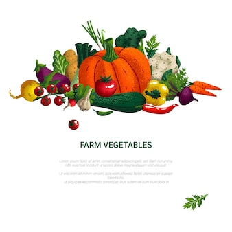 Концепция здорового питания овощи