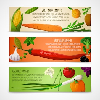 Vegetables horizontal banners