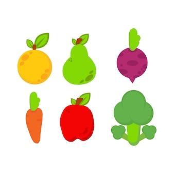 야채 그림입니다. 세계 채식주의의 날, 건강 식품 일러스트레이션 디자인. 흰색 배경에