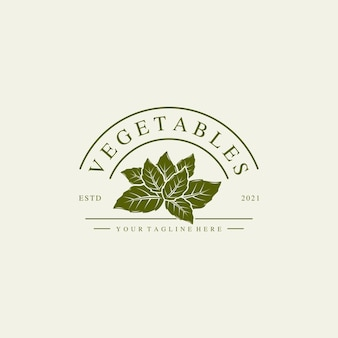 Vegetables logo illustration