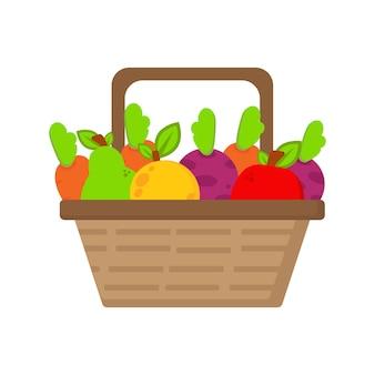 바구니 그림 세계 비건의 날 야채