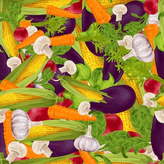 Vegetables realistic seamless background