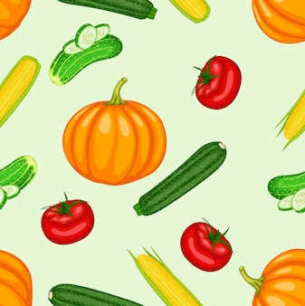Vegetables seamless background