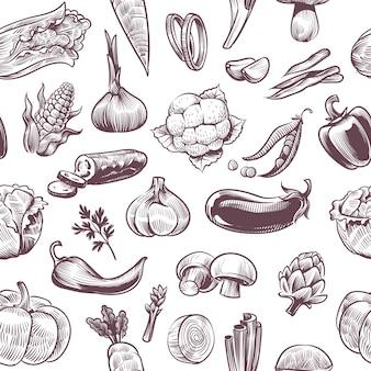 Овощи бесшовные модели
