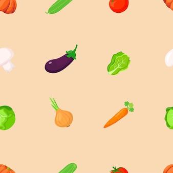 野菜のシームレスなパターン