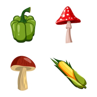 Vegetables set. cartoon set of vegetables