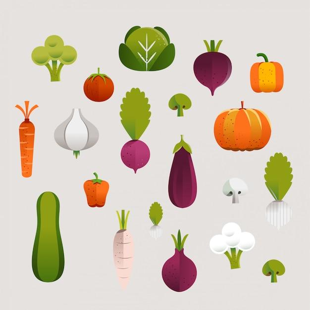 Vegetables set illustration
