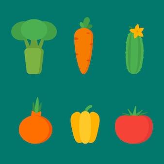 야채는 벡터 개체 클립 아트를 설정합니다. 벡터 일러스트 레이 션.