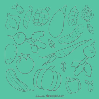 Vegetables sketch background