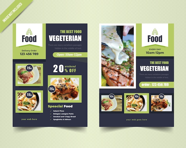 Vegetarian flyer template
