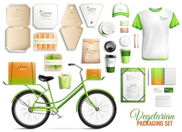 Vegetarian food packaging set