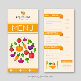 Vegetarian restaurant menu template