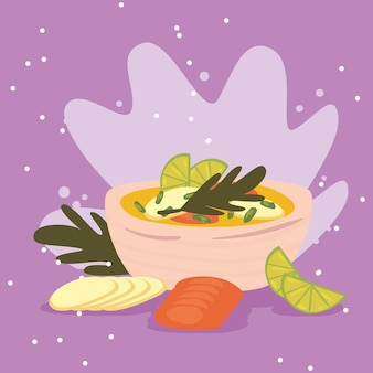 Vegetarian soup and vegetables