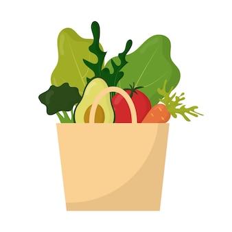 채식주의 개념 야채의 벡터 세트 야채에서 구성 프리미엄 벡터