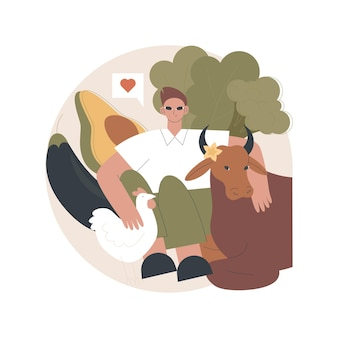 Vegetarianism illustration