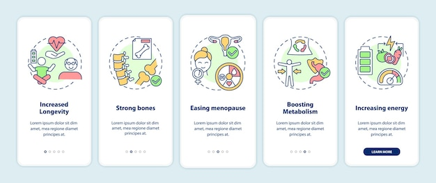 概念を備えたモバイルアプリページ画面をオンボーディングする菜食主義のプロ