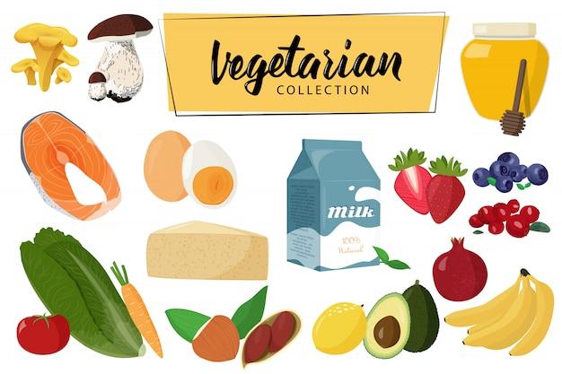 Вегетарианские коллекции продуктов питания.