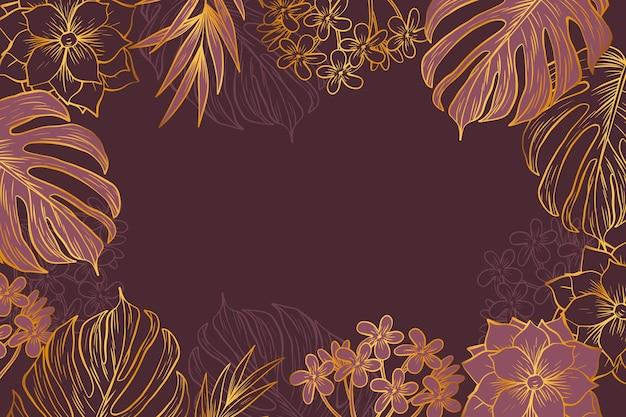 黄金の詳細と植生の背景