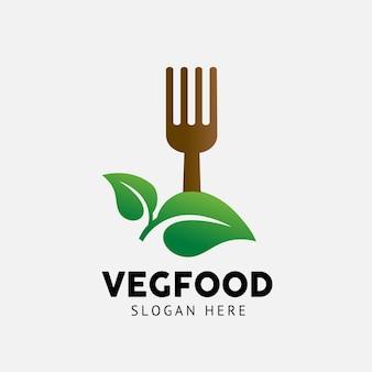 Veggie food logo