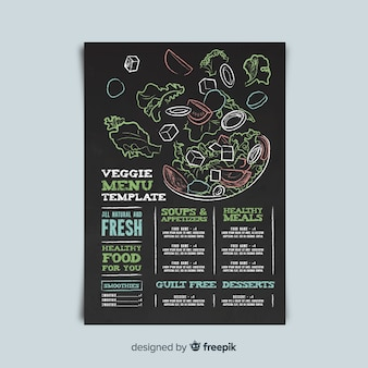 Veggie menu template