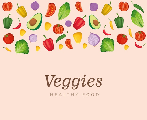 Плакат с овощной едой