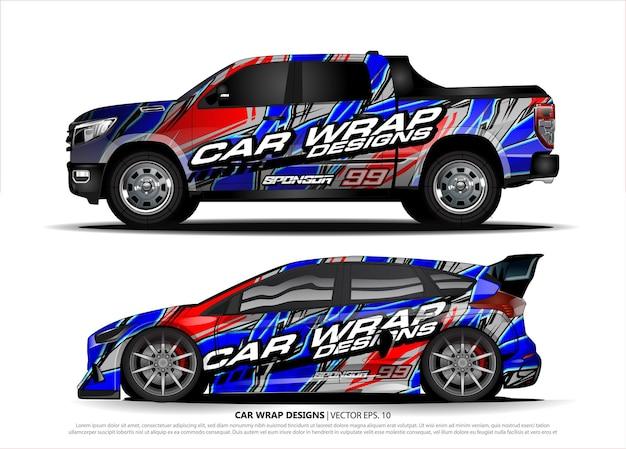 Концепция дизайна автомобиля для маркировки декалей