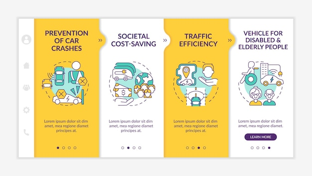 Vehicle for disabled and elderly people onboarding template